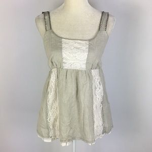 Willow & Clay Lace Lined Cami Top Medium